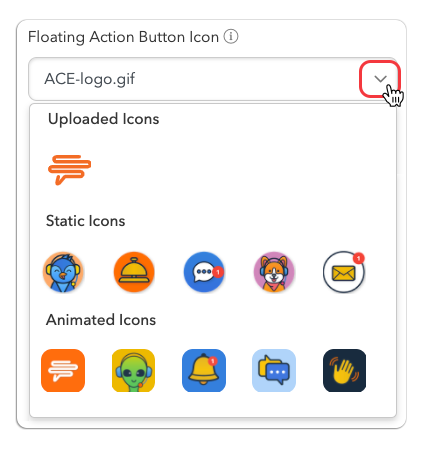 Chatbot Icon Upload History