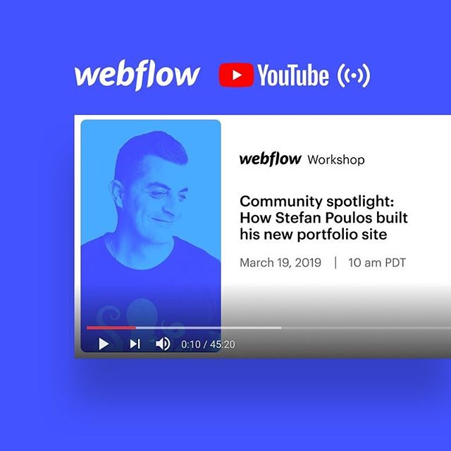 Youtube thumbnail for video: Webflow community spotlight: How Stefan Poulos built his new portfolio site