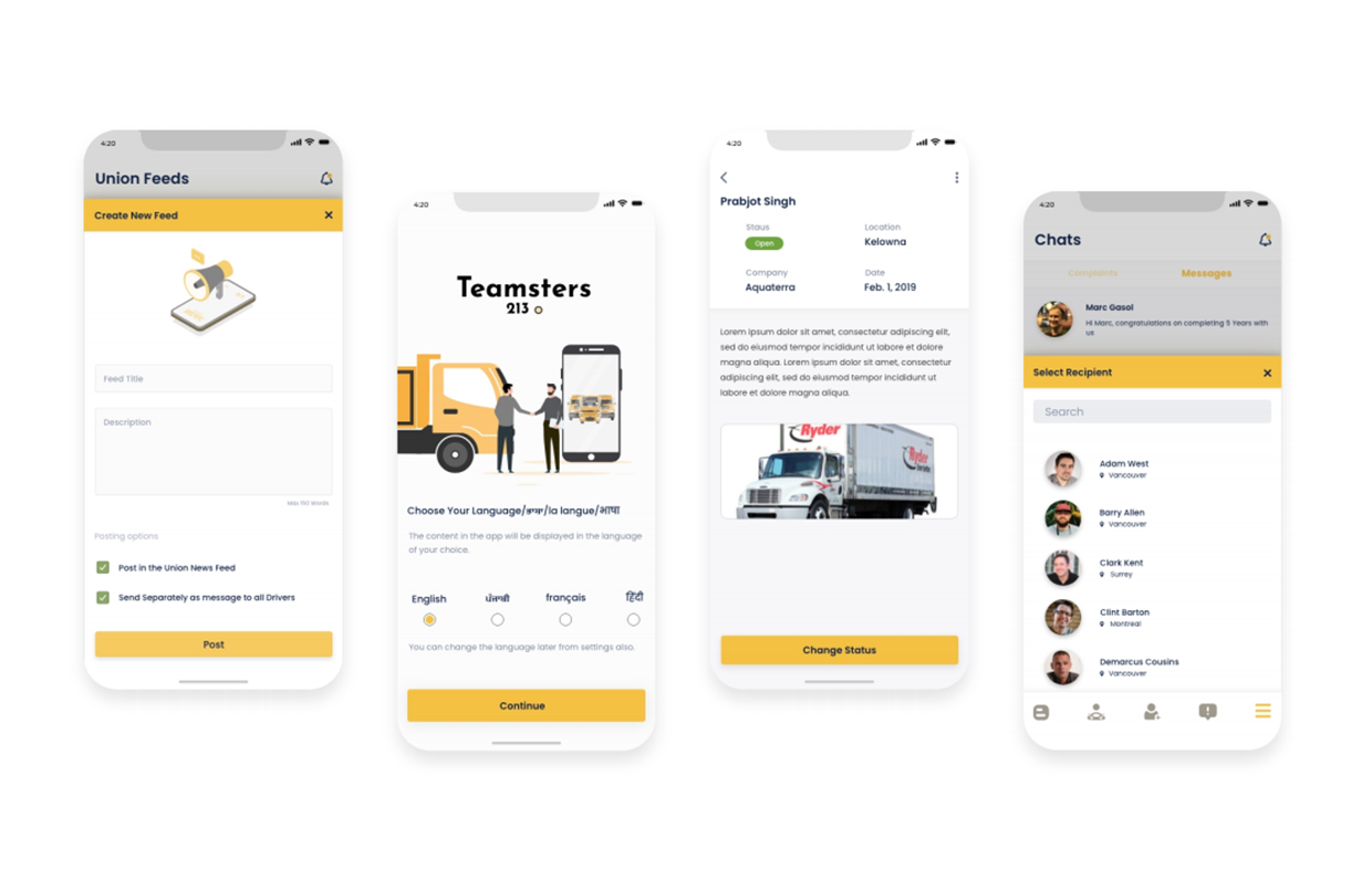 Teamsters App Features