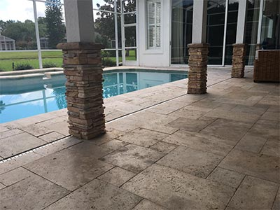Travertine Sealing in Tampa, FL