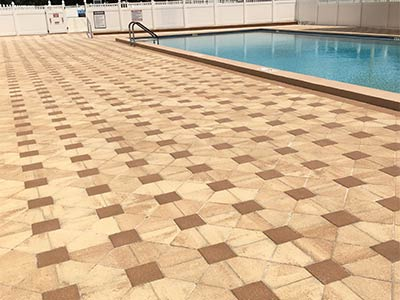 Commercial paver sealing in Tampa, FL