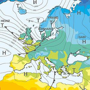 Radarová animace oblačnosti nad D a ČR