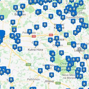Mapa webkamer ČR