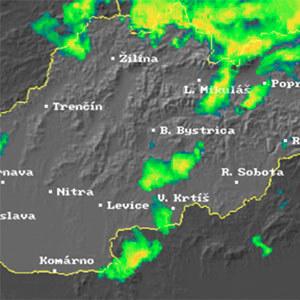 Radarový snímek Slovenska