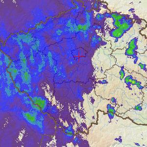 Radarová animace ČHMÚ