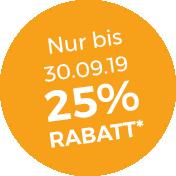 Störer 25% Rabatt