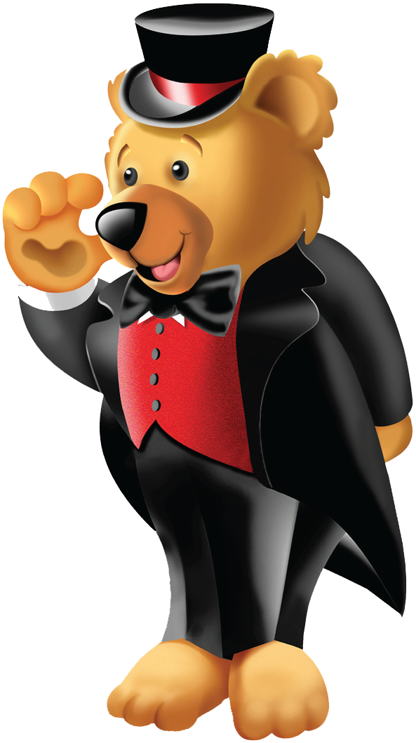 fun services teddy bear in a top hat and tux