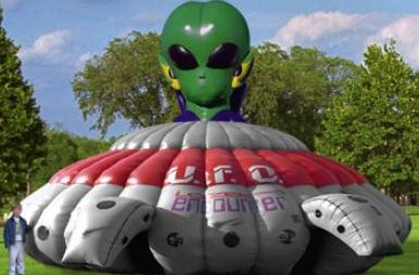 Blast your opponent in the action-packed Alien Laser Tag Unit. 30' l x 30' w x 18' h.