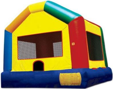 A large colorful bouncing area for the kids. (15' long x 20' wide x 12' tall)