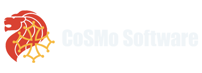 Logo of CoSMo Software, a leading tech company in the real-time video communication space.