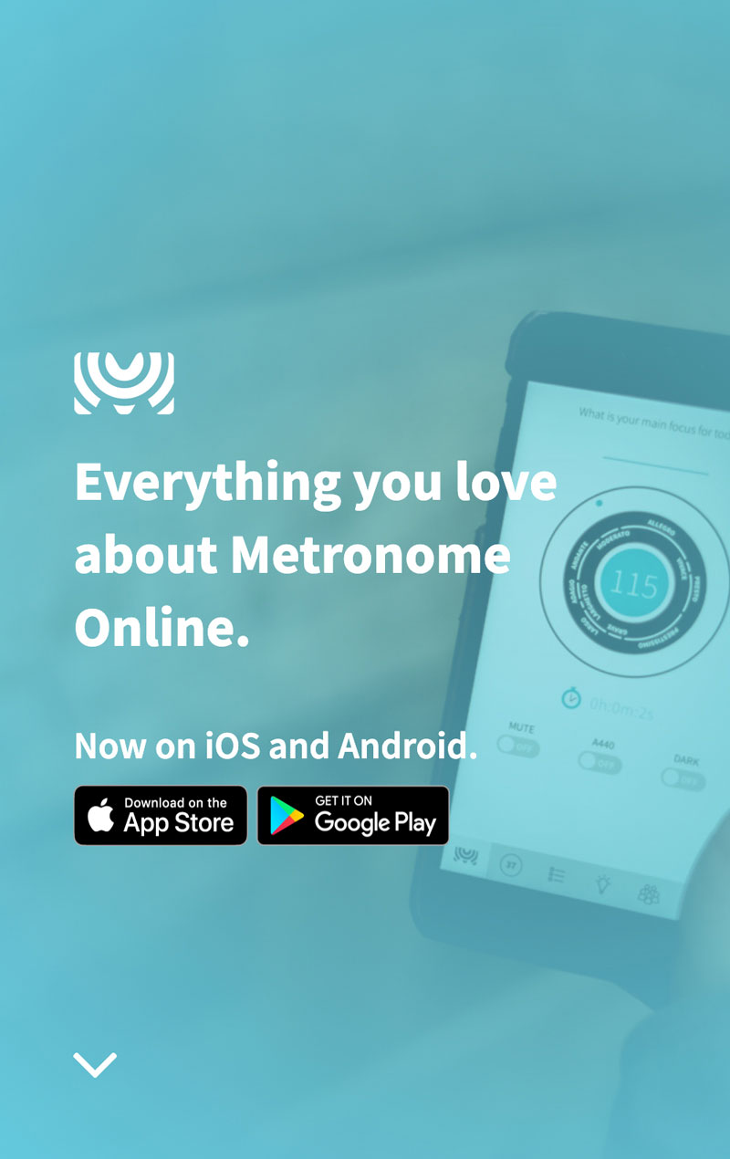 Screenshot of the landing page of the Metronome Online new website design with clear calls-to-action.
