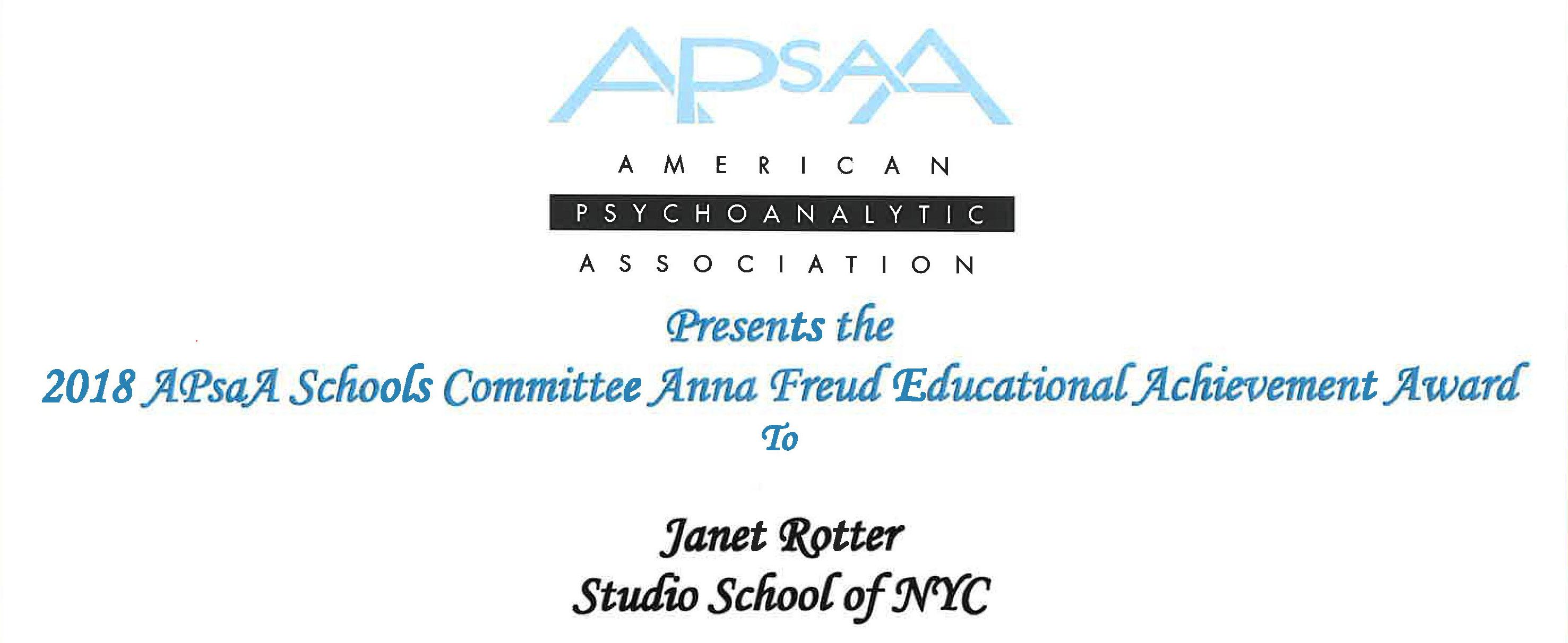 APSAA Award