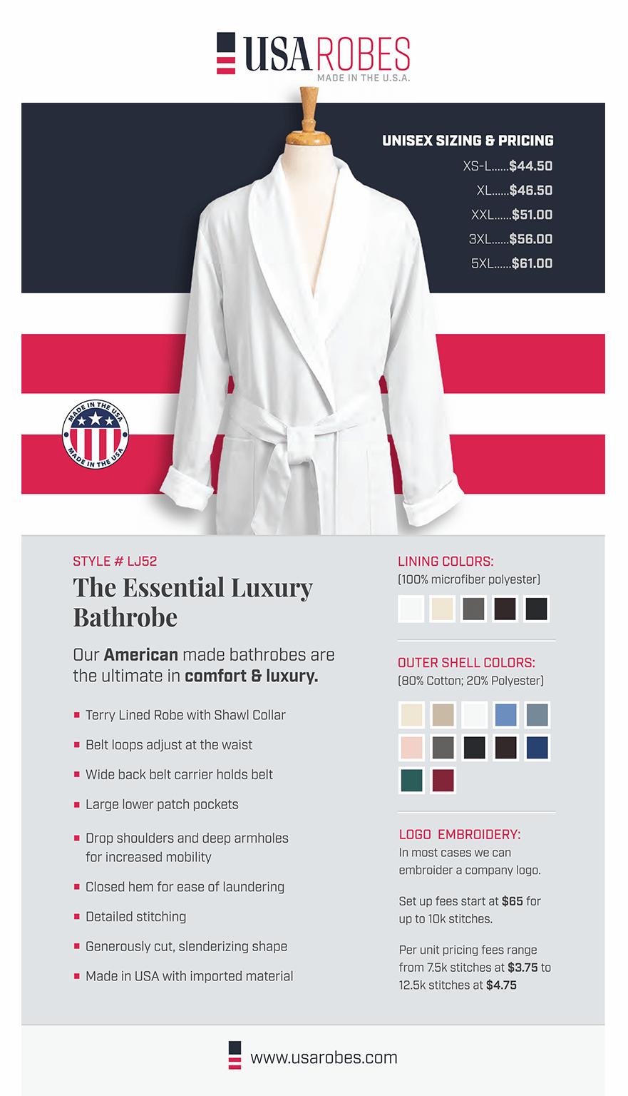 USA Robes Print Piece 1