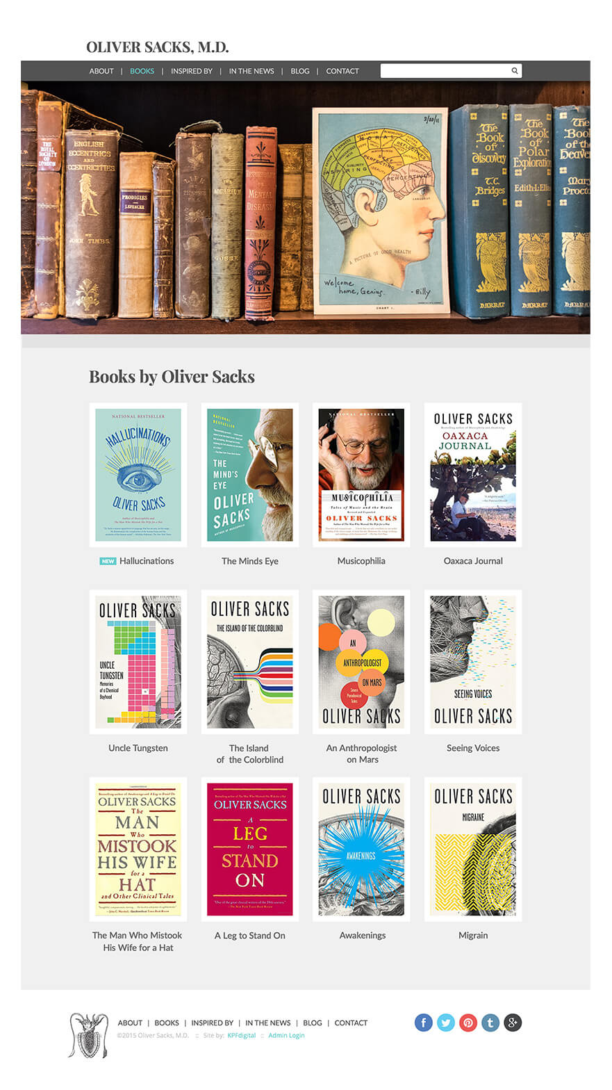 Oliver Sacks Books Screen