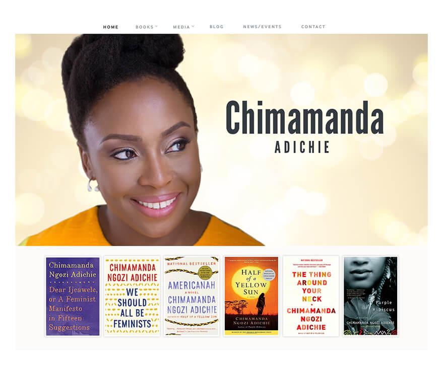 Chimamanda Home Page Screen