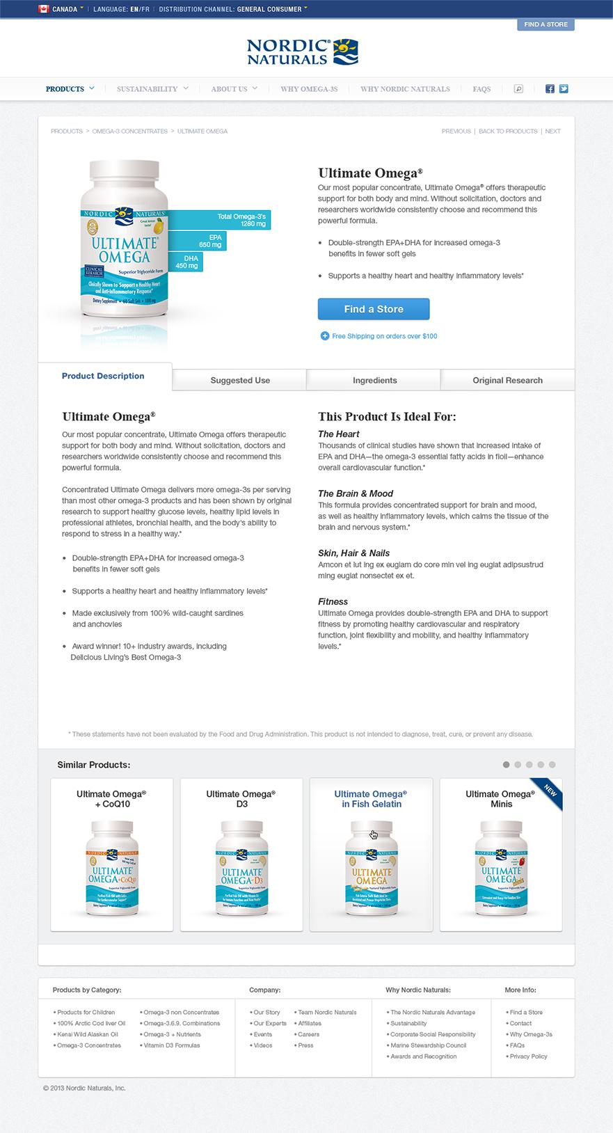 Nordic Naturals CA Product Detail Screen
