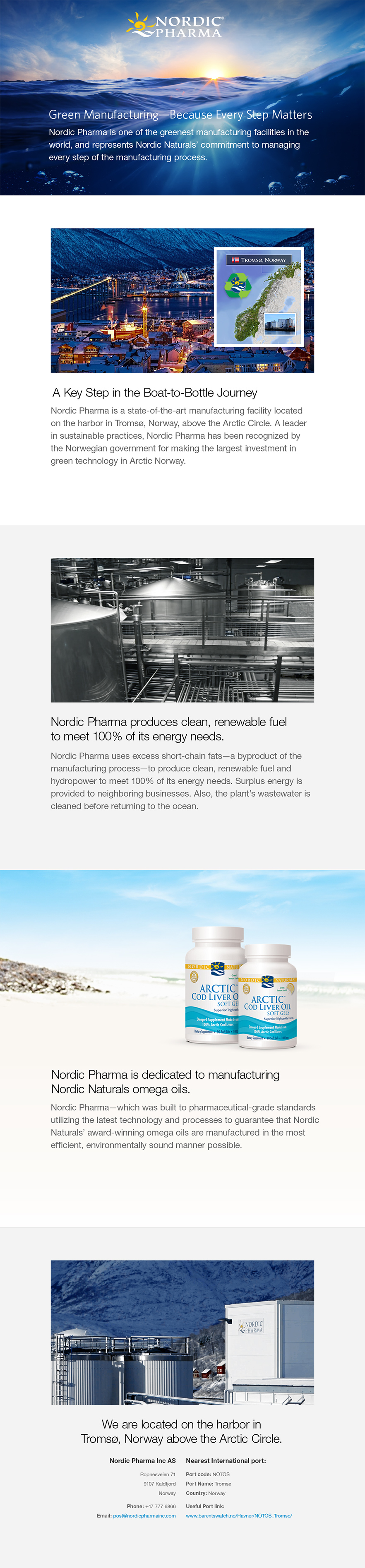 Nordic Pharma Home Page Screen