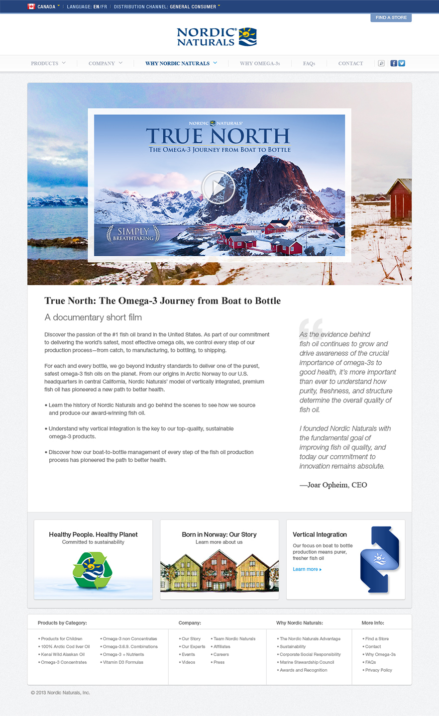 Nordic Naturals CA True North Screen
