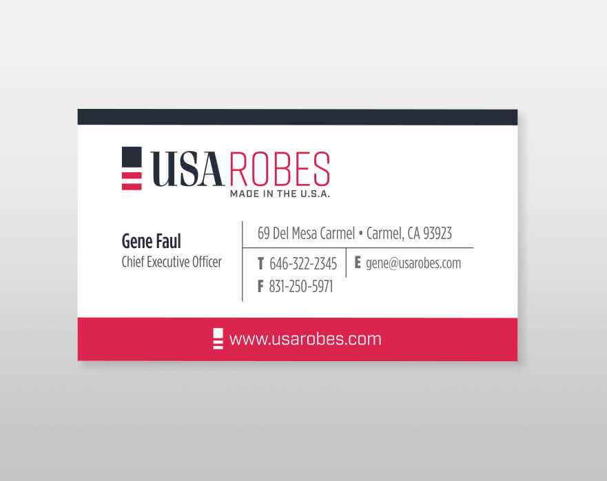 USA Robes Business Card