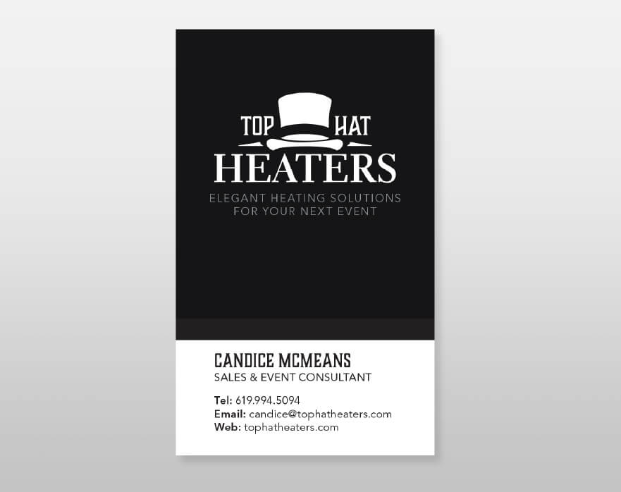 Top Hat Heaters Business Card