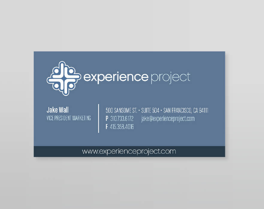 Experience Project Business Card