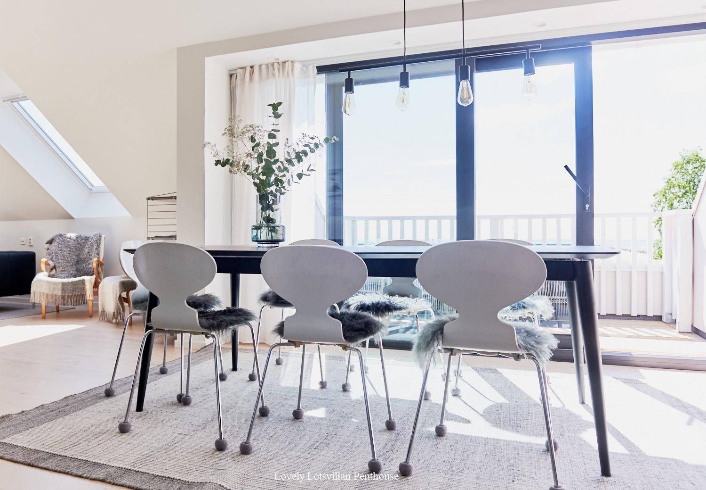 Lovely Lotsvillan Penthouse diningroom