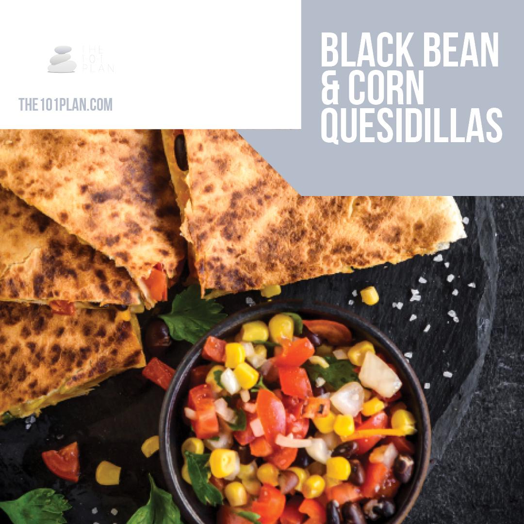 Delicious Black Bean & Corn Quesadillas