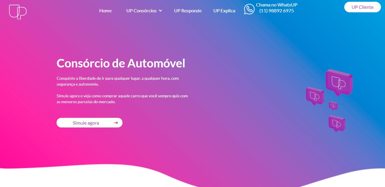 Simulação de Consórcio para Automóvel - UP Consórcios