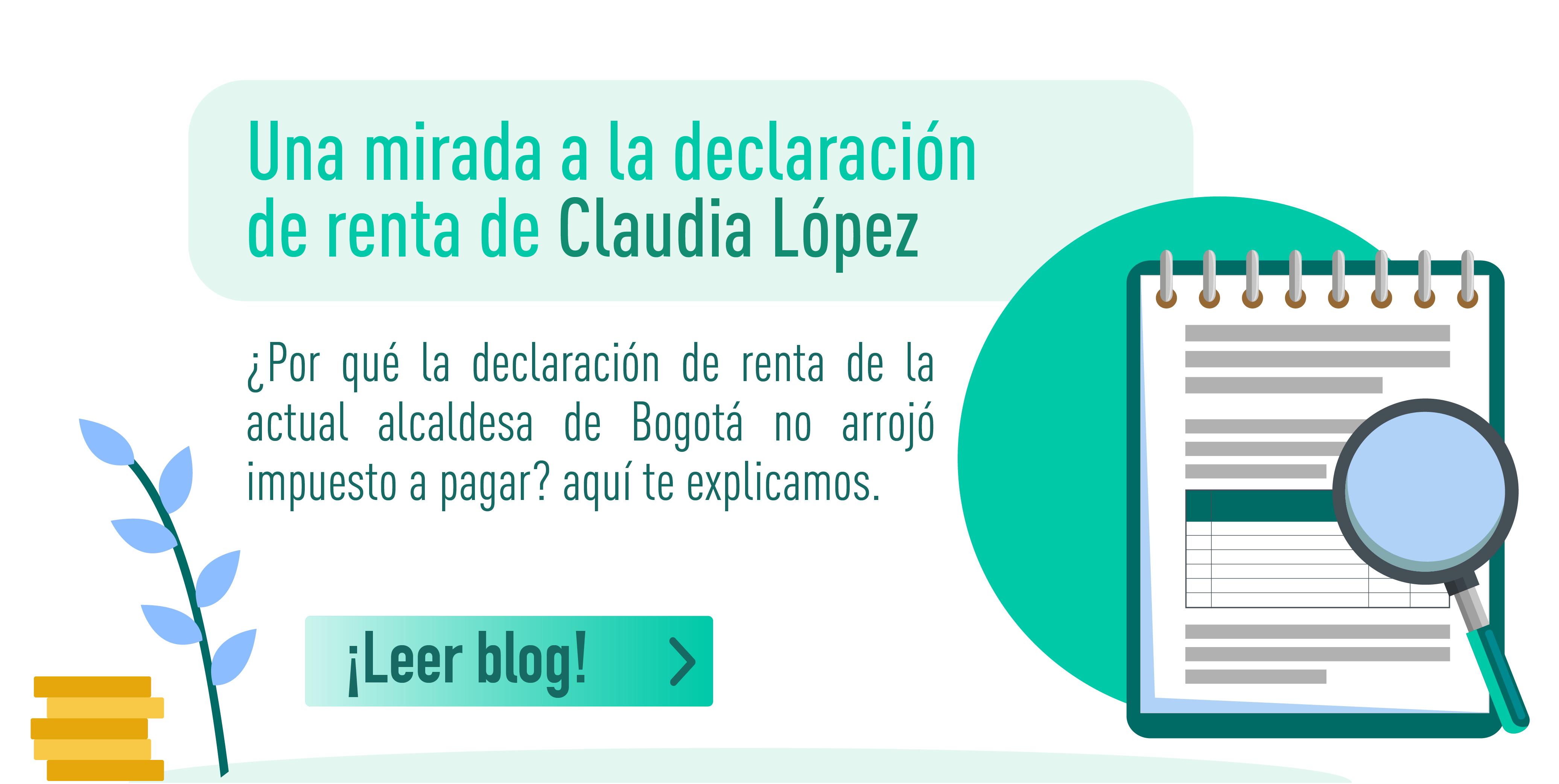 Claudia López, ¿con saldo a favor en la DIAN?