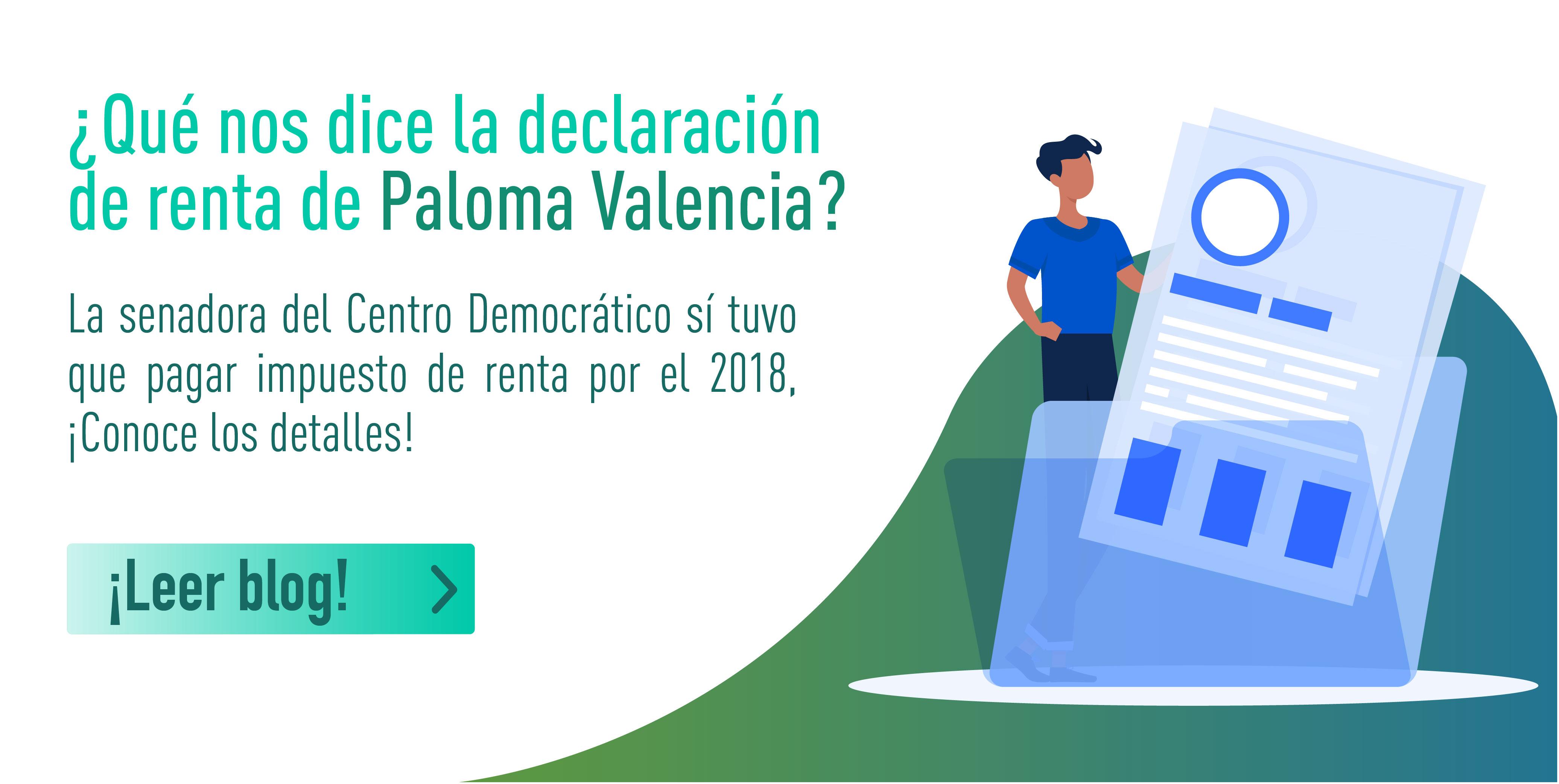 Paloma Valencia otra de las senadoras con impuesto de renta a pagar