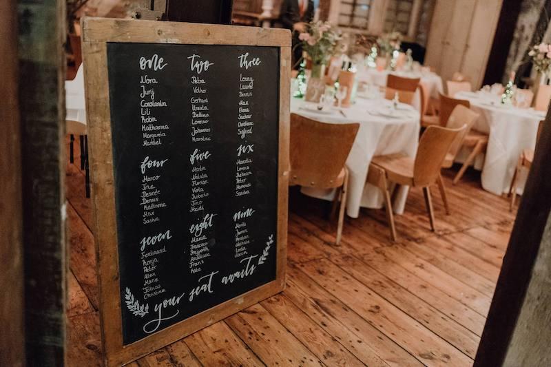 Tischplan Hochzeit
