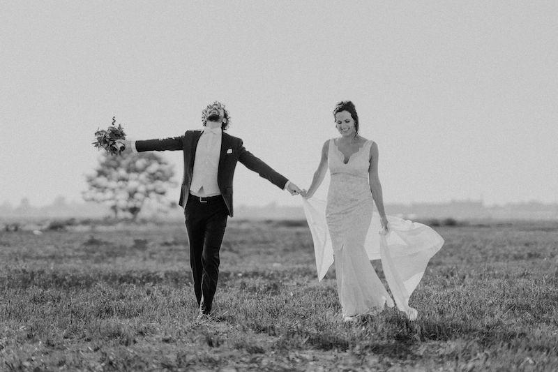 Glückliches Brautpaar