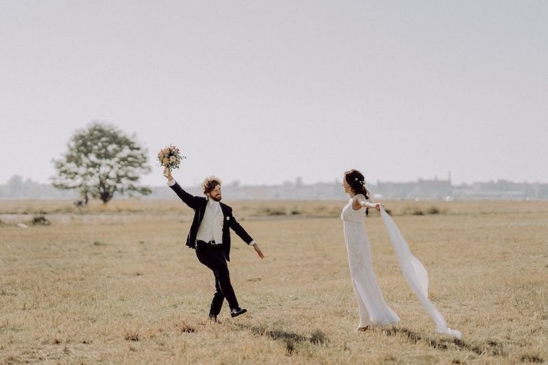 Tempelhofer Feld Brautpaar Photoshooting