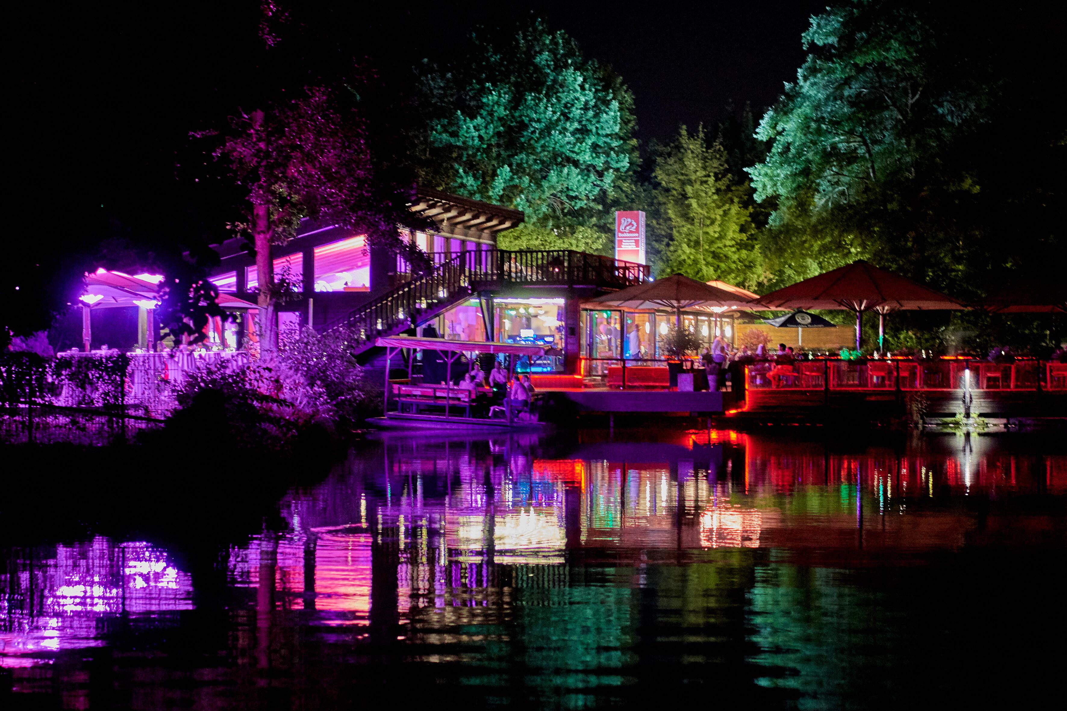 Restaurant Boddensee bei Nacht
