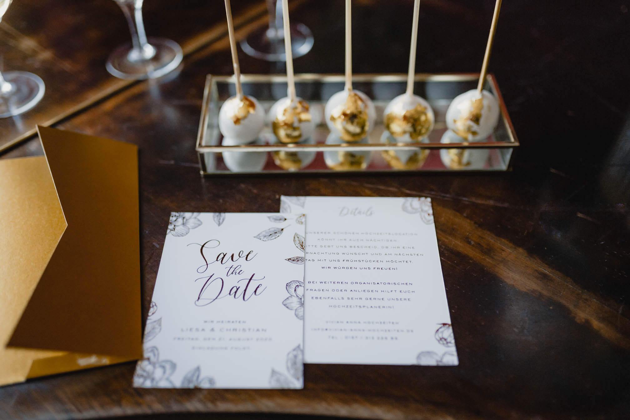 Wedding Papeterie mit Gold