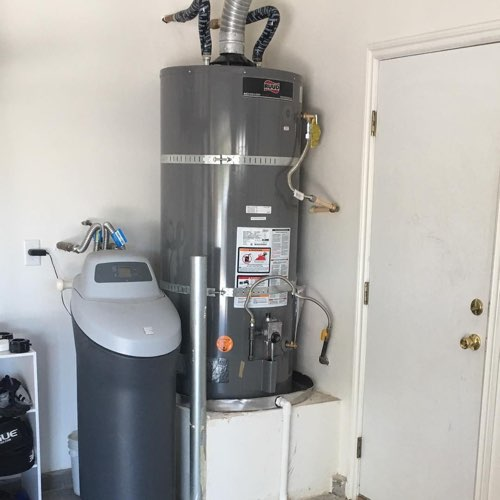 A water heater that needs plumbing in North Las Vegas, NV