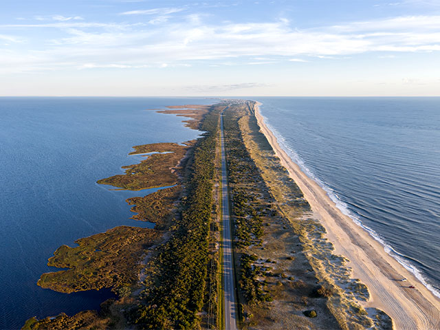 The Outer Banks barrier island
