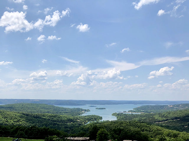 view over lake south of branson
