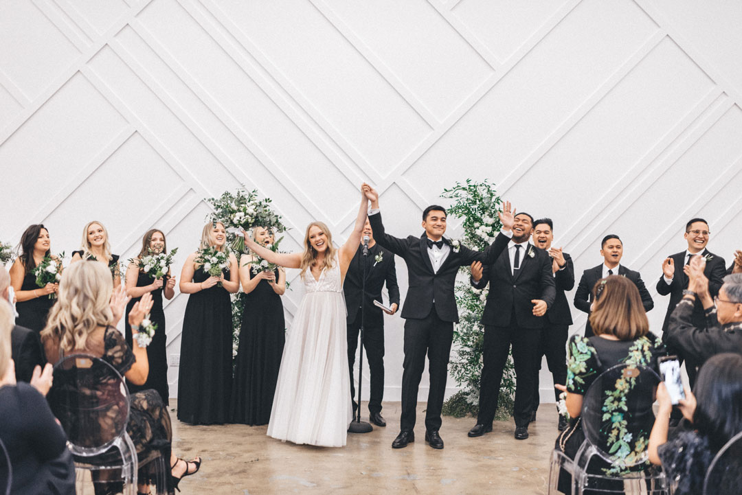 bride and groom tied the knot at forme los angeles wedding venue