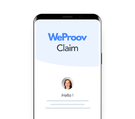 WeProov Claim mobile application