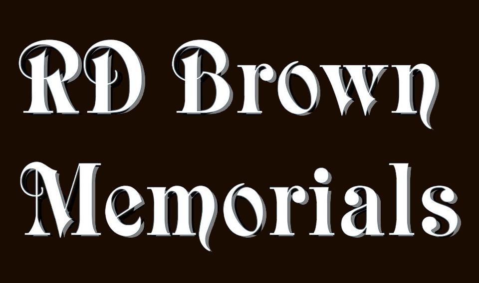 rd brown memorials