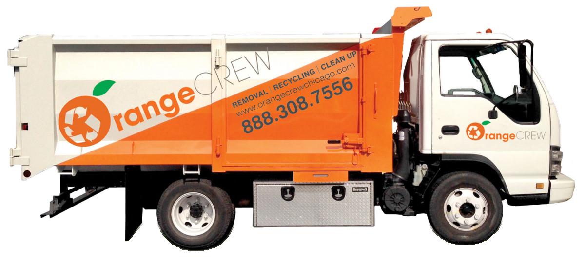Orange Crew junk removal Truck