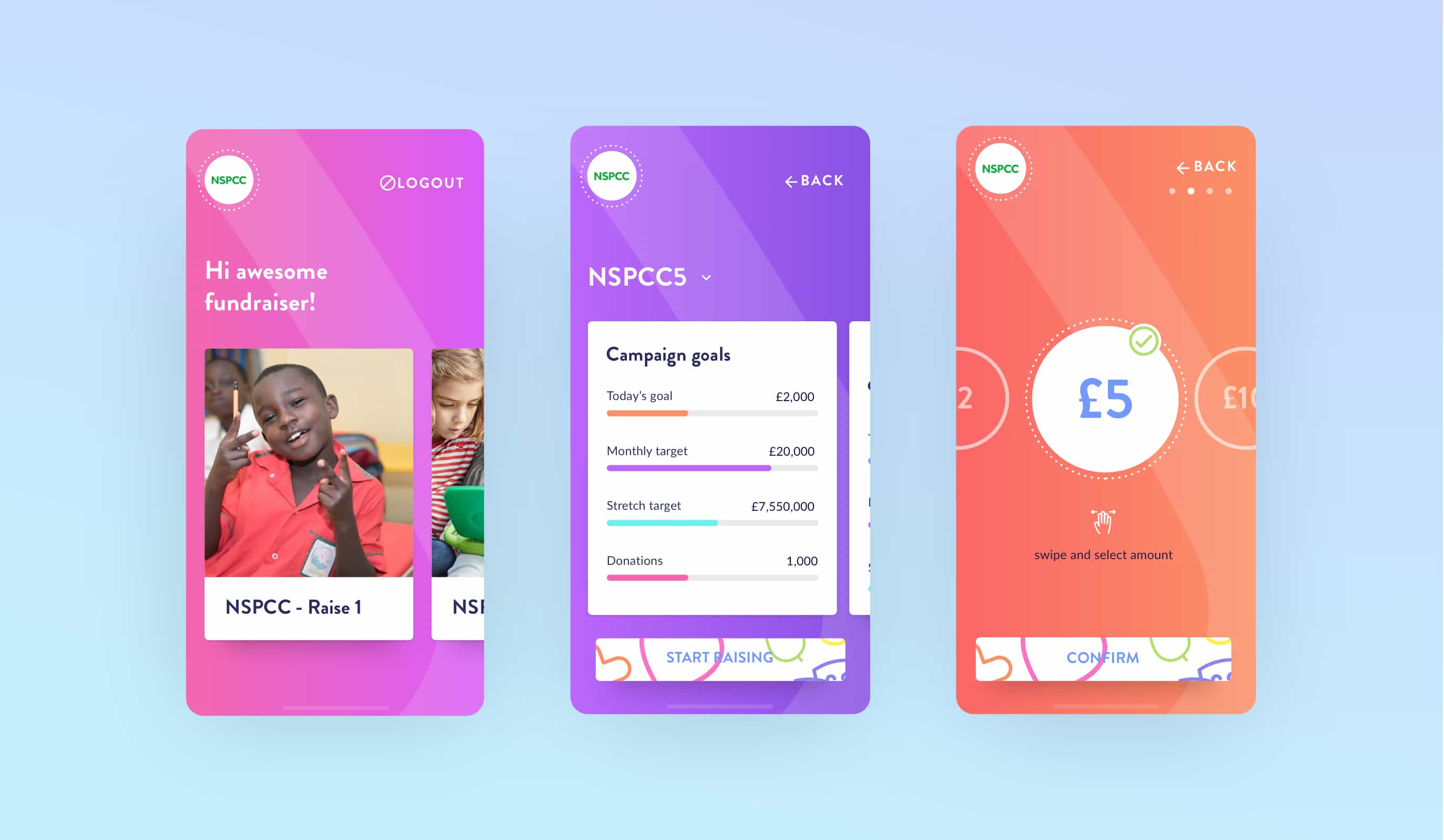 The new TapSimple donations app