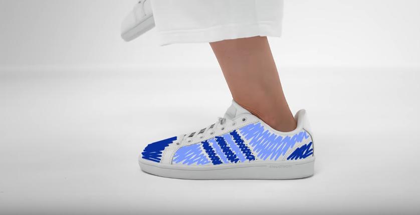 Personnalisation basket adidas snapchat gamification