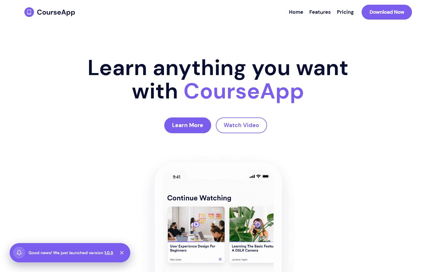CourseApp - App Template