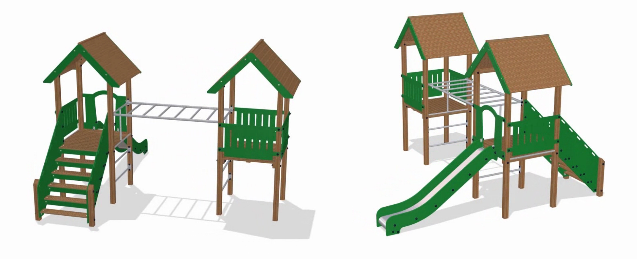 Kompan Playground Units : High Quality, Durable, Recyclable, Vibrant Colours