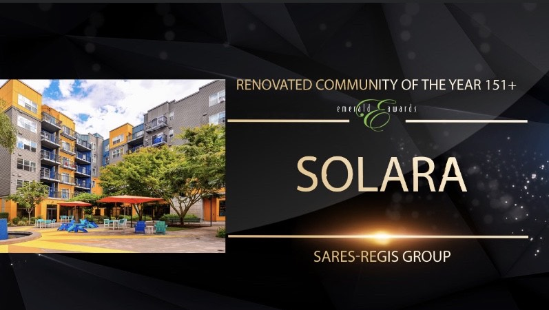 Emerald Awards - SRG Residential Wins Renovated Community of the Year 151+ Units