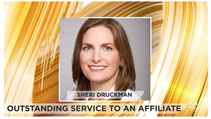 Sheri Druckman Wins WMFHA Outstanding Service to an Affiliate National Apartment Association's Excellence Award