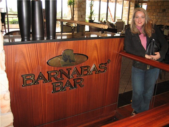Hotel Bar named after Barnabas Shaw