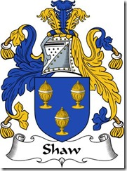 Shaw Coat of Arms (English)